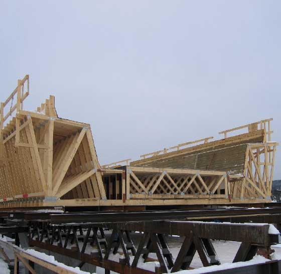 träknekt till betongbro
